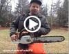chainsaw cutting firewood