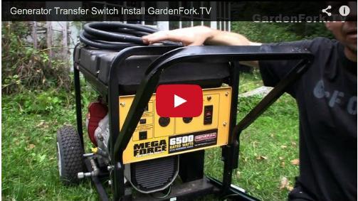 generator transfer panel installation