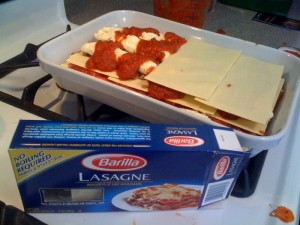 no boil noodles in this simpl fast lasagna