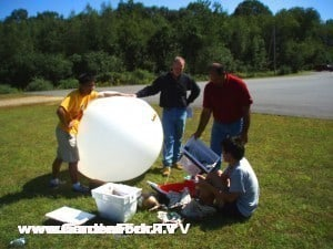 Preparing the balloon - photo from space.1337arts.com