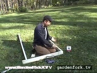 build a frame that will fit in your garden bed with 2x4 lumber