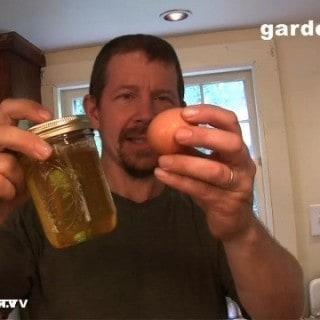 Eric's Poached Egg Bacon Escarole Salad, aka Salad Lyonnaise