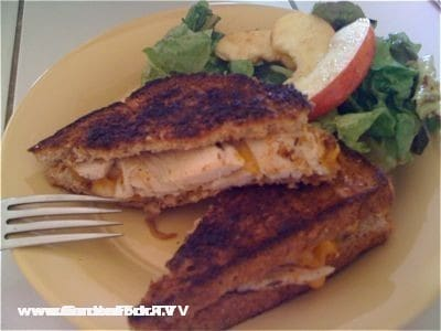 grilled cheese recipe on www.gardenfork.tv