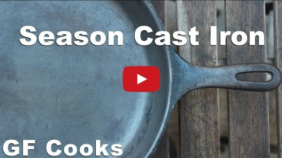 remove rust from cast iron