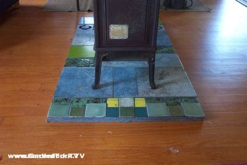 Homemade Wood Stove Floor Protector Gardenfork Eclectic Diy