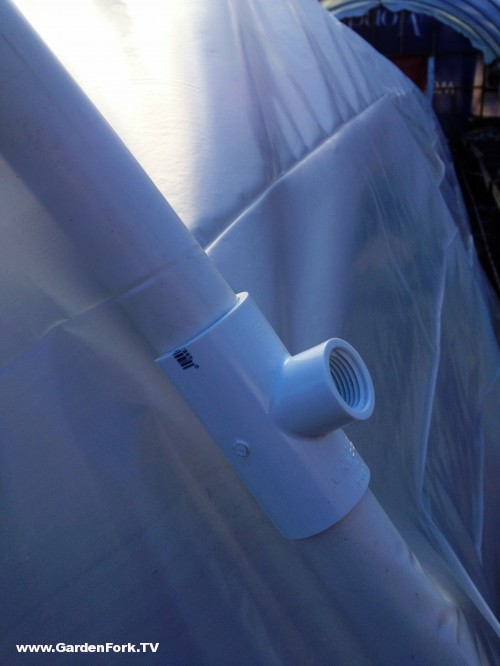Clamp-On PVC over tubing to hold plastic