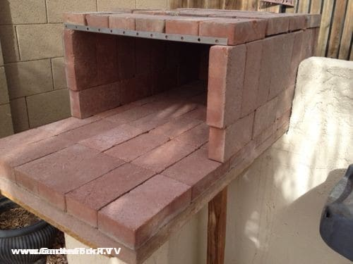 home made brick pizza oven