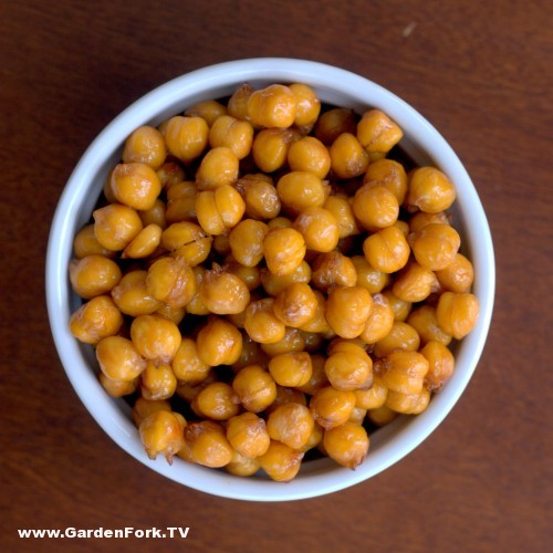 Sweet and Salty Roasted Chickpeas - GardenFork.TV - DIY Living