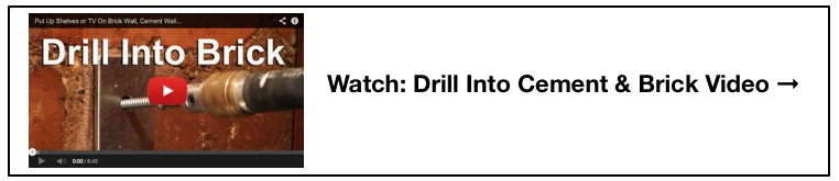 drill into brick video insert