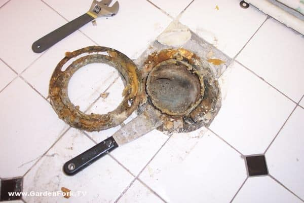 Toilet Repair how to replace a broken toilet flange