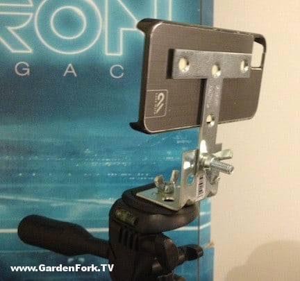 DIY iphone tripod bracket mount