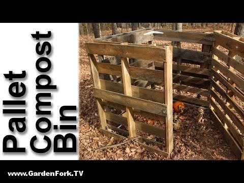 Video Thumbnail For Youtube Video Pallet Compost Bin Plan