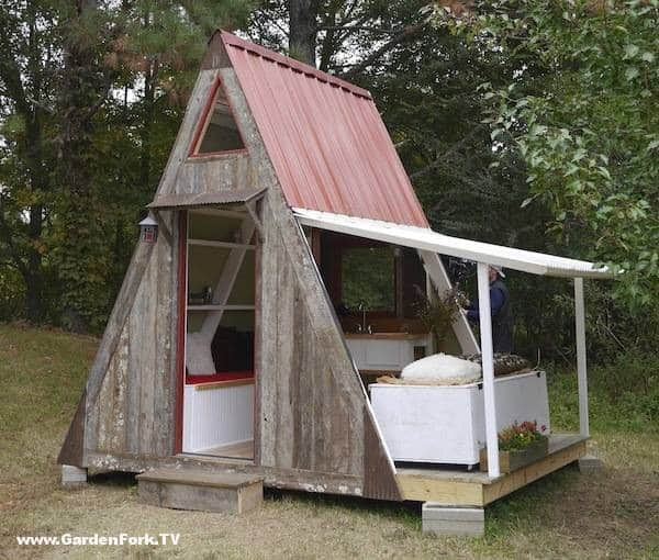 tiny house plans a frame vacation cabin gardenfork