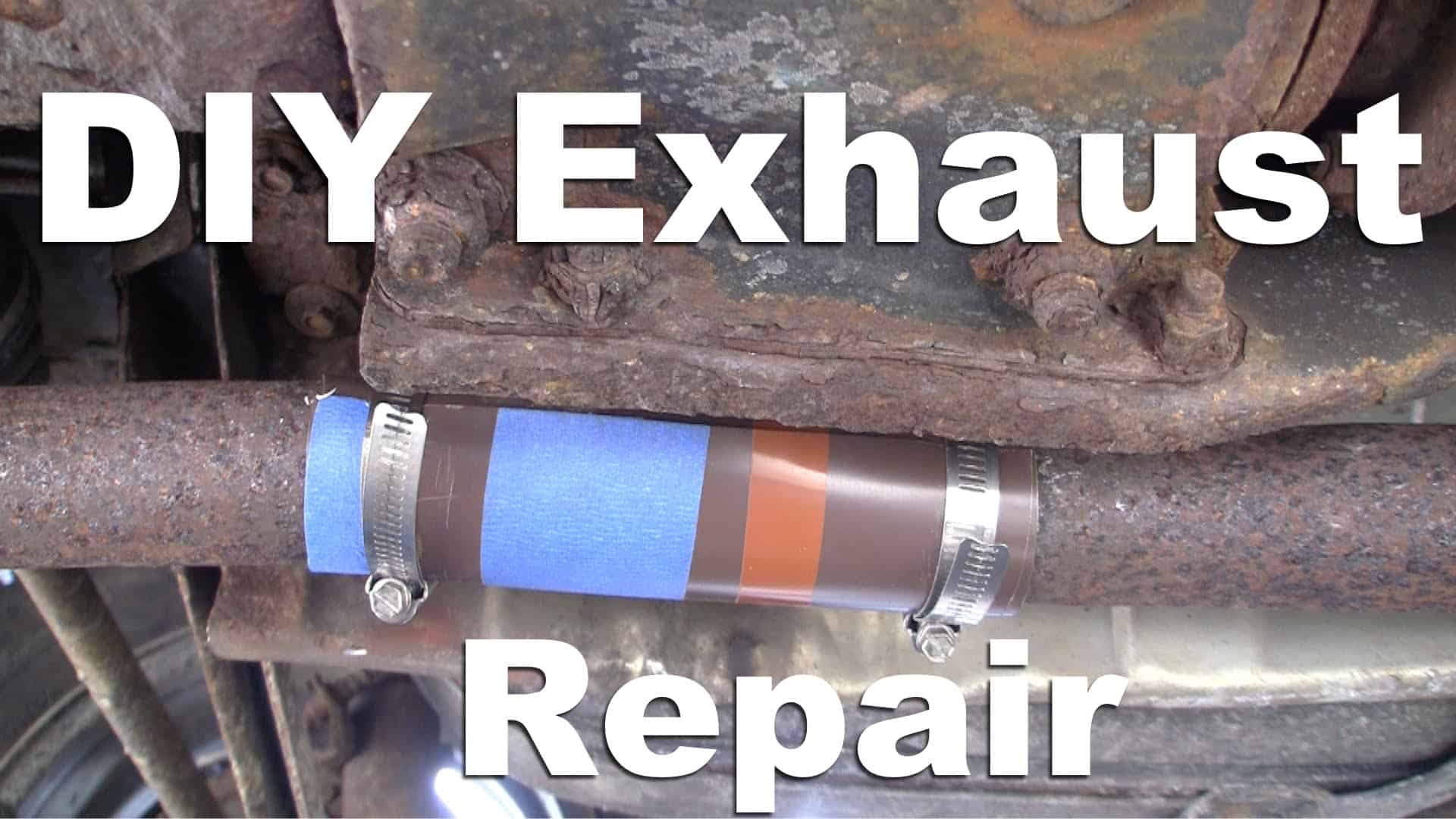 Exhaust Pipe Repair Hack Diy Gf Video Gardenfork Tv