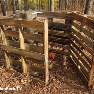 pallet compost bin plan