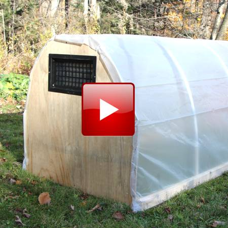 PVC Cold Frame Hoop House #3 - DIY GF Video - GardenFork - Eclectic DIY