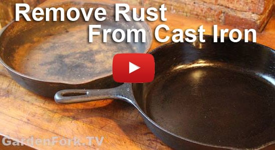 soap on cast iron and restoring cast iron videos gardenfork tv diy living. Black Bedroom Furniture Sets. Home Design Ideas