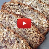 coconut banana bread recipe www.GardenFork.tv