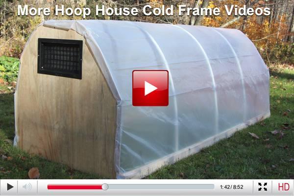 hoop house cold frame