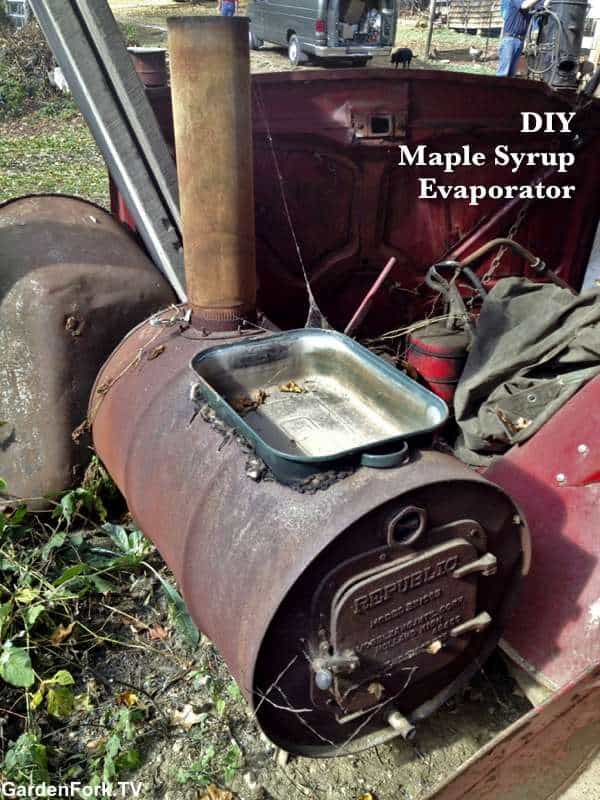 DIY maple syrup evaporator