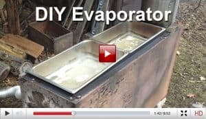 home made maple syrup evaporator