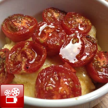 roast cherry tomato and polenta recipe