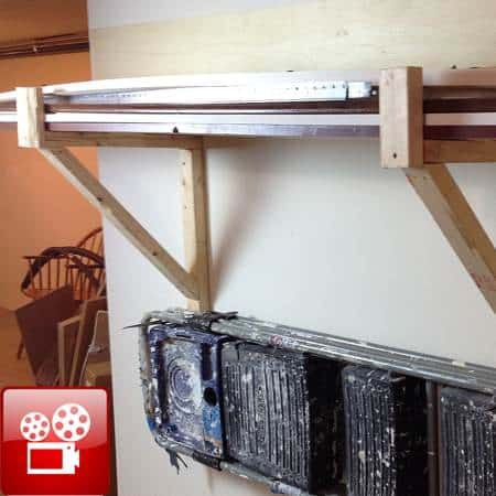 basement storage rack shelves feature
