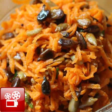 carrot salad food video feature