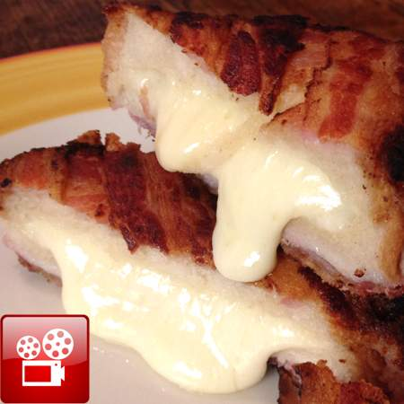 Bacon Wrapped Grilled Cheese Recipe