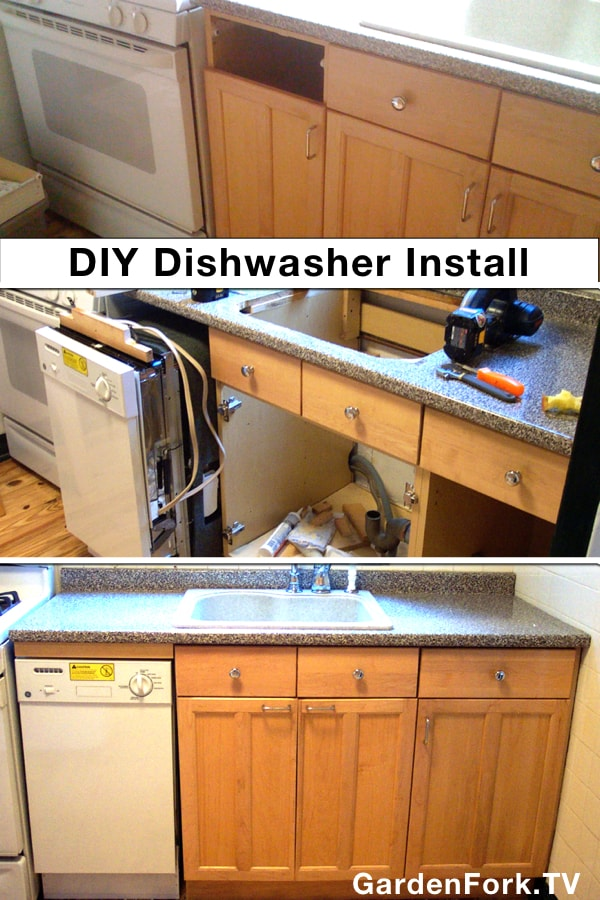 installation of dishwasher into small kitchen