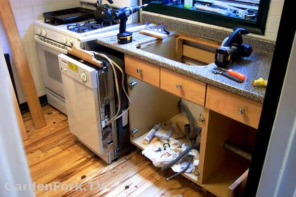 kitchen cabinet disassembly