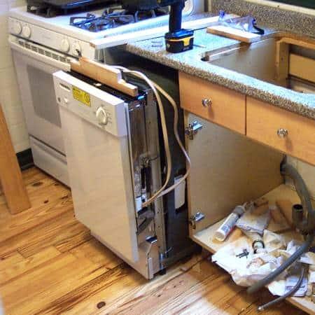 Custom Diy Dishwasher Installation Gardenfork Eclectic Diy