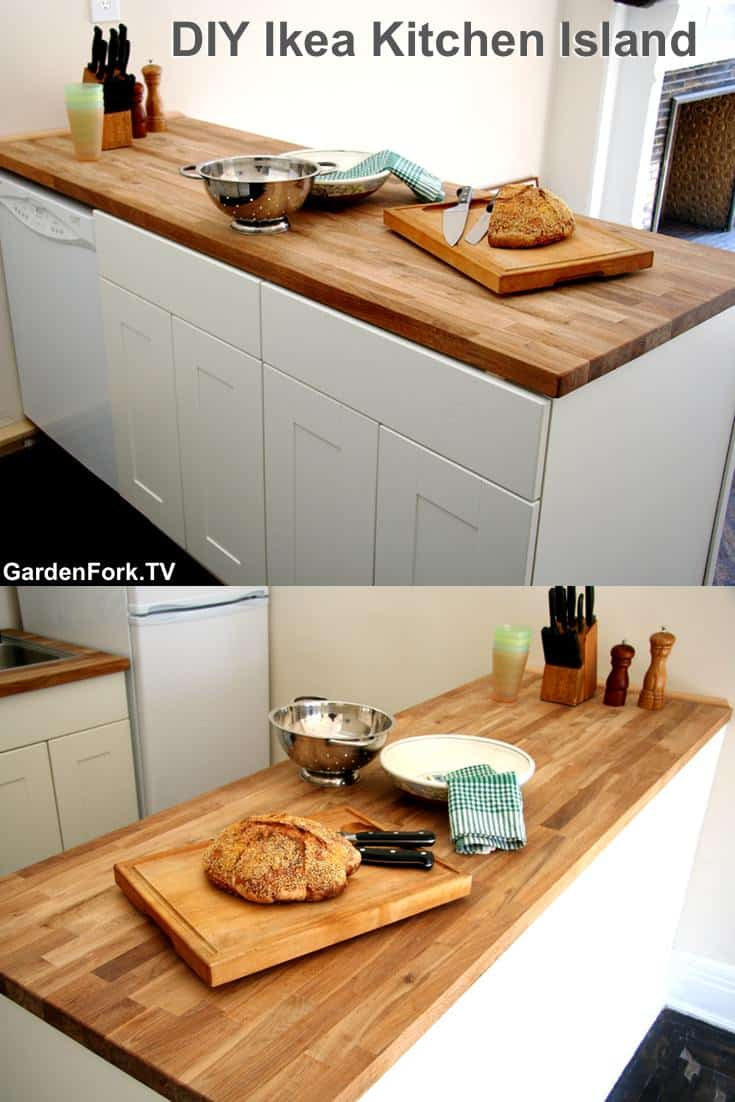 Ikea Kitchen Island You Can Build - GardenFork - Eclectic DIY