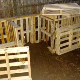 Homemade Pallet Compost Bins