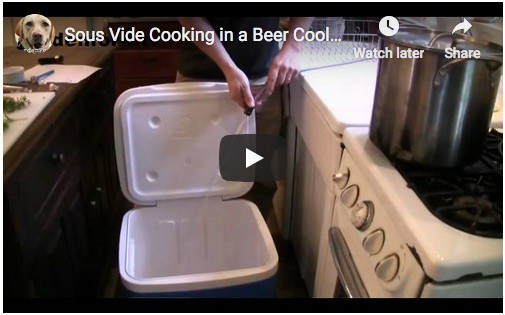 cheap sous vide machine using a beer cooler