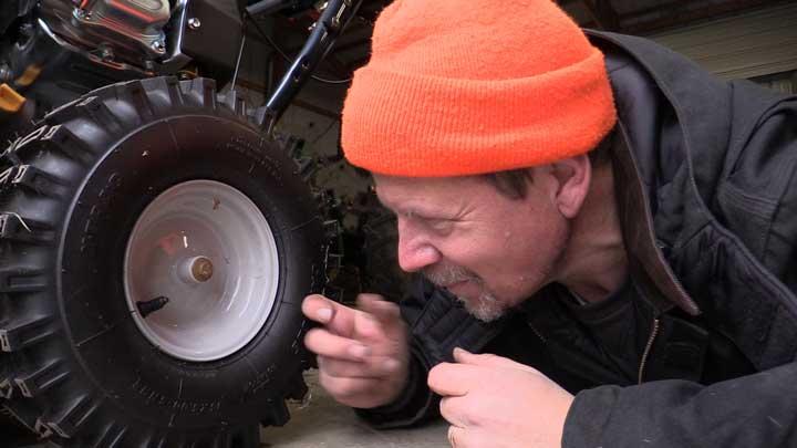 maintaining snowblower tires