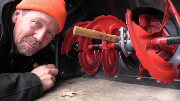 snowblower auger and gearbox