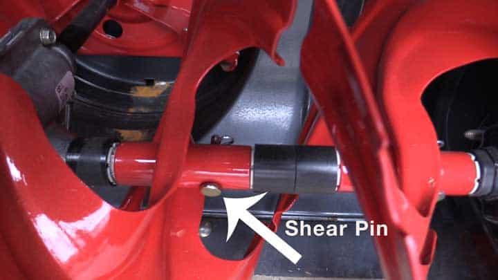 snowblower shear pin and driveshaft