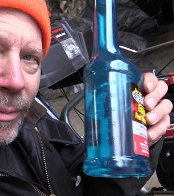 fuel stablizer for snowblower maintenance