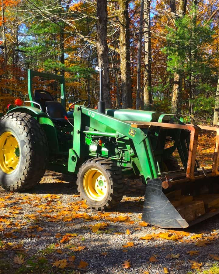 tractor with backhoe