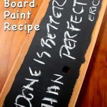 homemade chalkboard