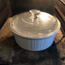 casserole dish for baking no knead bread
