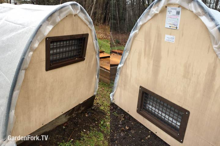 temperature vents for mini hoop house