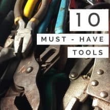 pinterest image of pliers and wrenches