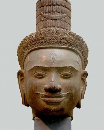 Cambodian Shiva Head